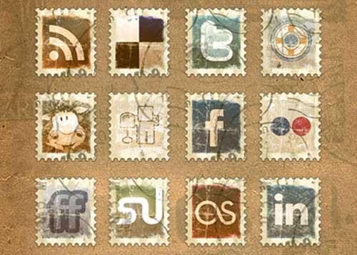 Iconos gratis de Redes Sociales sellos de correos