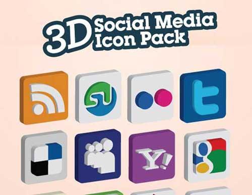 Iconos gratis de Redes Sociales en forma de sellos de caucho