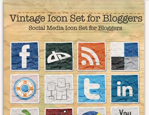 Iconos gratis de Redes Sociales arrugados