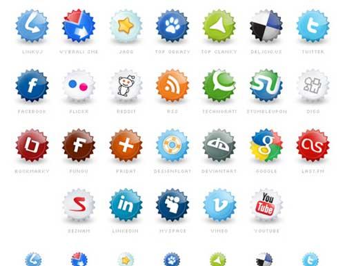 Iconos gratis de Redes Sociales pegatinas