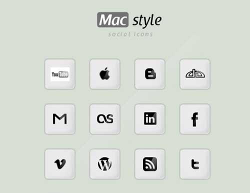 Iconos gratis de Redes Sociales estilo Mac