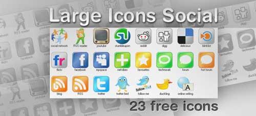 Iconos gratis de gran tamaño para Redes Sociales