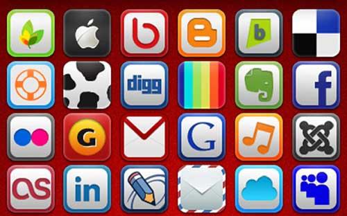 Iconos gratis de Redes Sociales con vértices redondeados