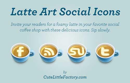 Iconos gratis de Redes Sociales, tazas café