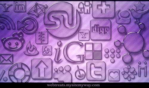 Iconos para Redes Sociales vidrio pulido