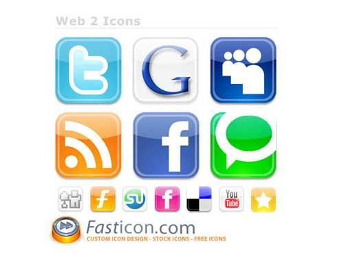 Iconos gratis de Redes Sociales estilo iPhone rápido