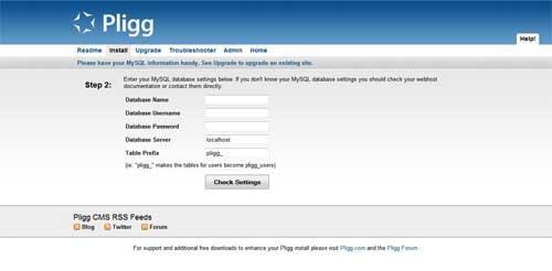 Instalación Pligg Base Datos