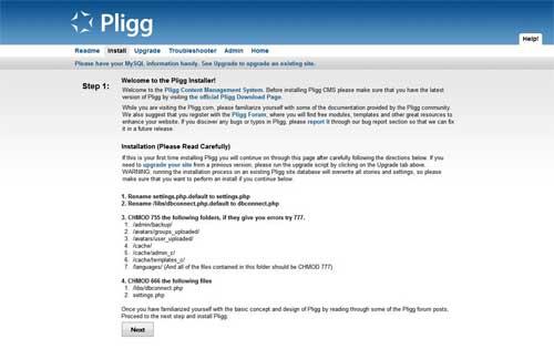 Instalación Pligg bien permisos