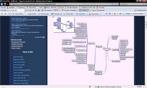 Sitemap mental Joomla! en Vista al Mar