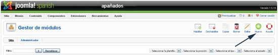 Crear nuevo módulo Joomla!