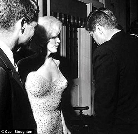 Unica foto juntos de Marilyn Monroe y J.F. Kennedy