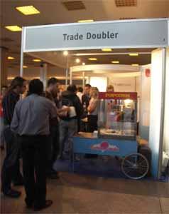 palomitas de maiz de Trade Doubler, congreso webmasters