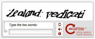 reCAPTCHA antispam