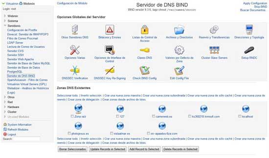 Servidor Bind, zonas DNS