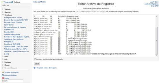 Servidor DNS Bind, archivo de registros