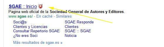 Web Security Guard avierte del riesgo de la página web de la SGAE
