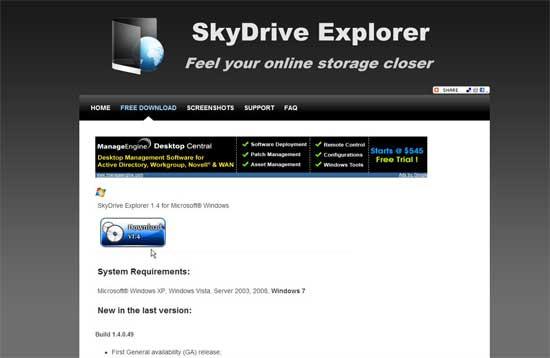 Descargar SkyDriver Explorer