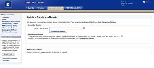 Transferir dominio a 1&1