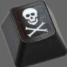 Tecla de ordenador anti-pirata