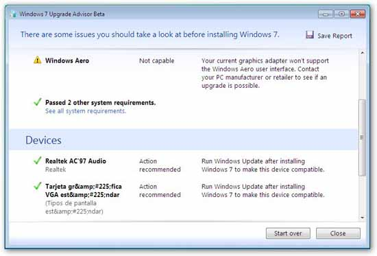 Asesor actualizaciones windows 7 resultados