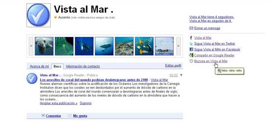 Vista al Mar, perfil público de Google