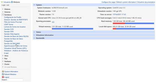 Webmin Servidor DNS Bind