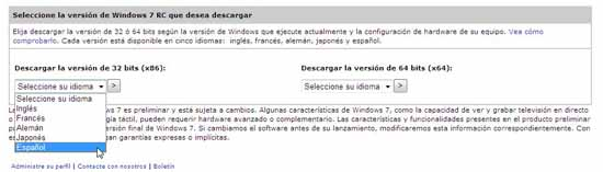 Descarga windows 7 desarrolladores