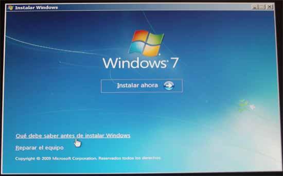 Windows 7, instalar ahora