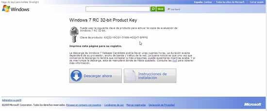 Descarga Windows 7 Código del producto