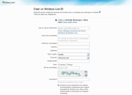 Alta Windows Live ID