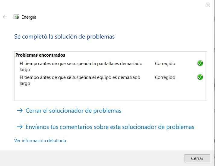 corrección de problemas de energía en Windows 10