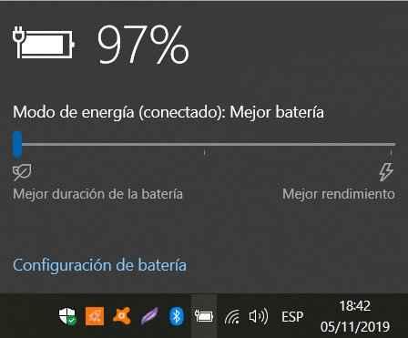 mejor batería en Windows 10