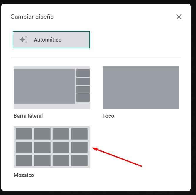 Google Meet mosaico
