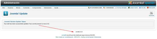 actualizar a Joomla 2.5.8, finalizada