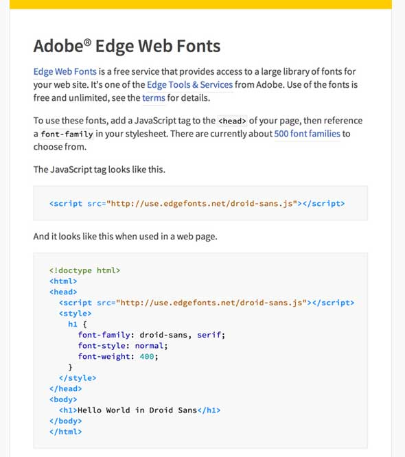 Adobe Edge web fonts - manual