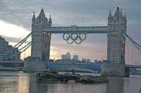 anillos olímpicos en la Torre de Londres