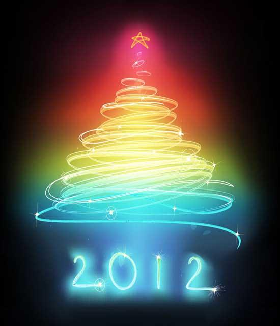 árbol Navidad abstracto 2012