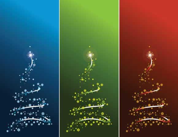 árboles Navidad estilizados archivo vectorial