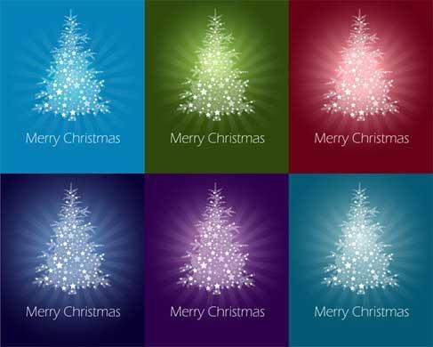 árboles Navidad vectoriales gratis