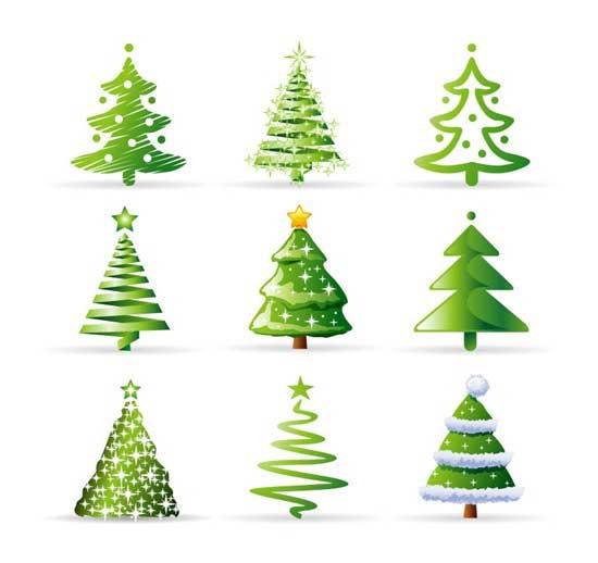iconos de árboles de Navidad para páginas web
