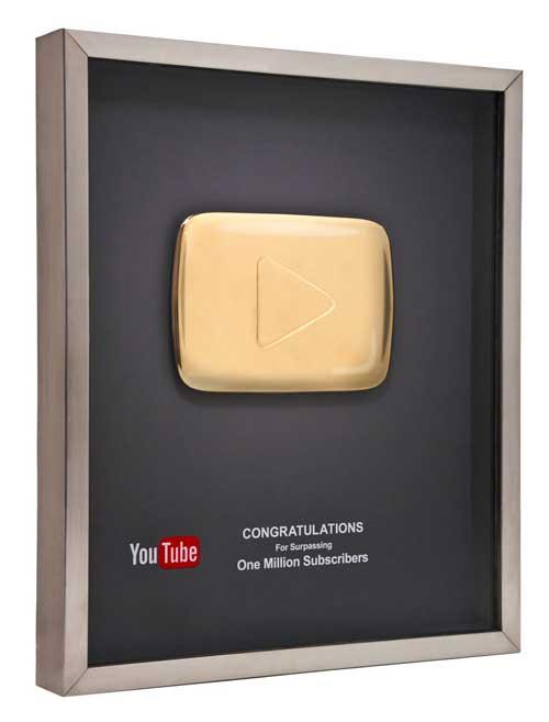 botón de oro de Youtube