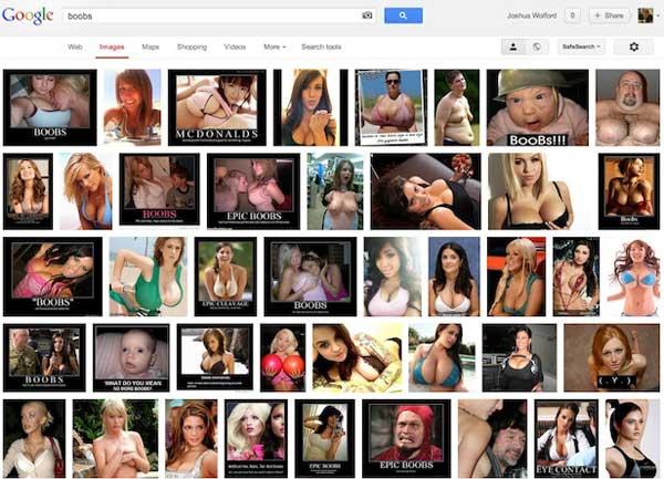búsqueda imáges 'boobs' en EE.UU.