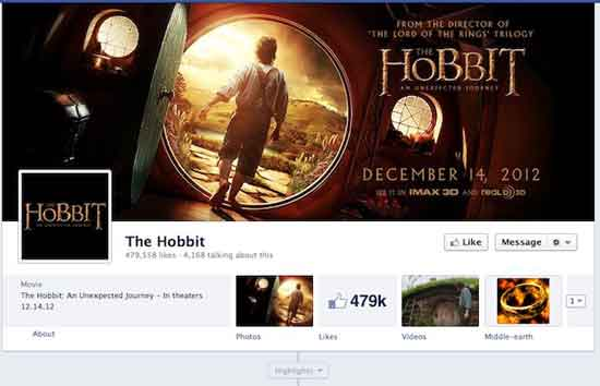 Facebook El Hobbit