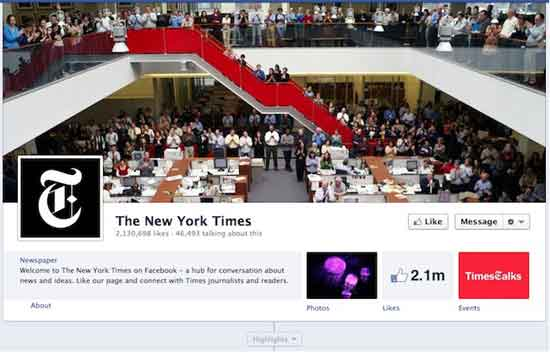Facebook The New York Times