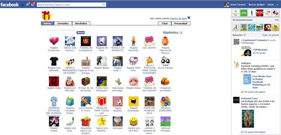 Facebook regalos