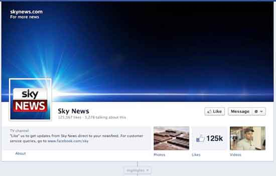 Facebook Sky News