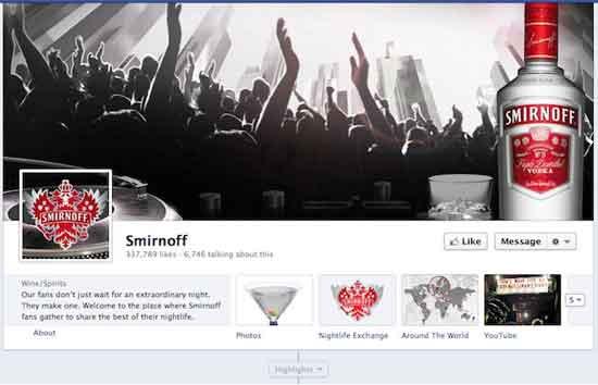 Facebook Smirnoff