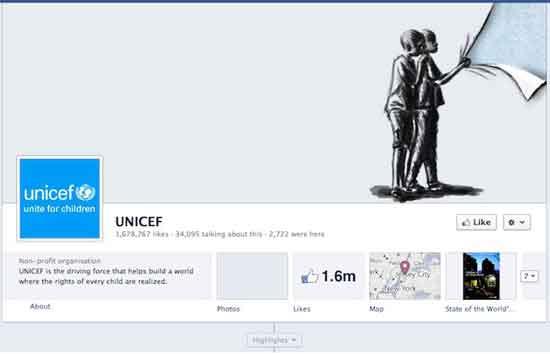 Facebook Unicef