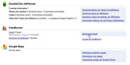 Google cuentas, productos