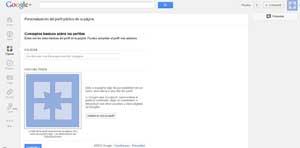 google plus, crear pagina nombre y foto